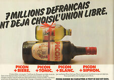 Publicité Advertising 1979  ( Double page )  PICON BIERE