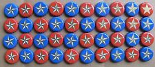 40 LONE STAR 20 BLUE/20 RED REBUS PUZZLE MICRO CRAFT NO DENTS BEER BOTTLE CAPS