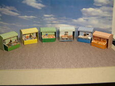 "6 Market Stalls Self Assembly Card Kit, ""00"" Add to your Layout.."