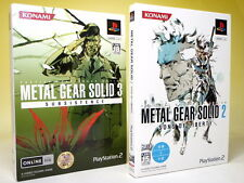 Used PS2 METAL GEAR SOLID 2 & 3 set First Print Limited Edition from Japan 833