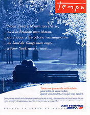 PUBLICITE ADVERTISING 025  1998  AIR FRANCE    tarifs TEMPO