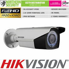 HIKVISION 2MP 1080P HD-TVI TURBO 2.8-12MM VERIFOCAL BULLET CCTV SECURITY CAMERA