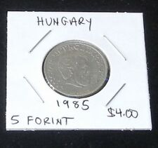 VERY NICE 1985 5 Forint Coin From Hungary