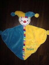 Baby Fehn Pampers Harlekin Clown Gelb Schmusetuch Schnuffeltuch Kuscheltuch