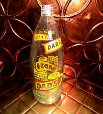 Vintage Rare Dad's Original Draft Root Beer  33.8 Oz. Bottle Hard to Find