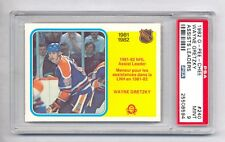1982-83 OPC #240 OILERS WAYNE GRETZKY ASSISTS LEADER PSA 9 MINT