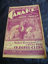 Partition Canari de Ch.Borel Clerc  1932
