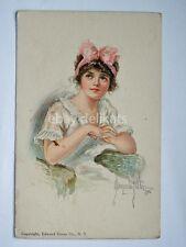 ALICE LUELLA FIDLER New York American girl 26 old postcard vecchia cartolina
