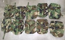 US Military MOLLE Sustainment Pouch - Woodland Camo - Dump Pouch EUC - LOT OF 10