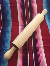 SOLID WOOD DOUGH ROLLER, TORTILLA, PIZZA, ROLLING PIN Rodillo Mexican