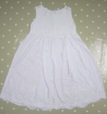 GHOST Girls White Broderie Dress - size L (5-7 years)