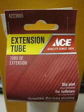 "Ace Extension Tube #4223665 1-1/4"" X 6"" Slip Joint NEW Free Shipping"
