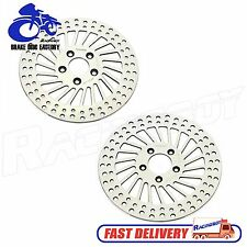 "11.8"" 2pcs Polished HARLEY Front Brake Disc Rotor Touring Bike 2011 2012 2013"