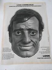 Pub 1973  Masque Look : Comme Jean Claude Killy pro de la sécurité