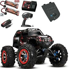 Traxxas 1/10 Summit 4WD RTR RC Monster Truck w 2x Battery Charger Bluethooh BLK