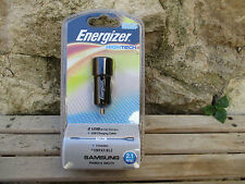 ENERGIZER HIGHTECH 2USB IN-CAR CHARGER + USB CHARGING CABLE