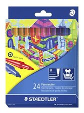 24 Staedtler Fibre Tip Pens 325C24/Adult Colouring/NEW STOCK/Vibrant Colours
