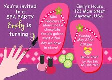 Spa Birthday Invitation, Spa Party Supplies, Diva Birthday Invitations, Glamour