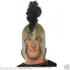 A484 Achilles Helmet Roman Soldier Greek God Mens Fancy Dress Party Accessory
