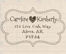 custom pre self inking personalized family wedding return address rubber stamp