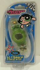 RARE-Cartoon Network Powerpuff Girls BUTTERCUP Animated Watch-Trendmasters 1999