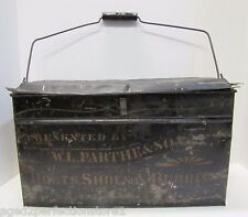 Antique Tin Metal Boots Shoes Rubbers Shoemakers Box tools equipment display