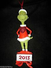 2013 DEPARTMENT 56 GRINCH WHO STOLE CHRISTMAS FLOCKED ORNAMENT~NWT