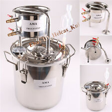 10LMoonshine Still Home Water Alcohol Essential Oil Distiller Liquid Brewing Kit