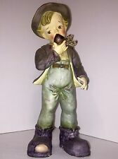 Boy Pipe Boot Hat Figurine Thames 12 inches