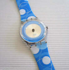 PSYCHEDELIC BLUE! Colorful ABSTRACT CIRCLES Art Swatch! New-RARE!