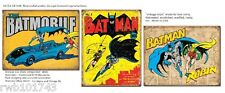 3 Batman and Robin TIN SIGN metal posters batmobile vintage superhero wall decor