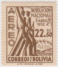 (BO68) 1953 Bolivia 22B 50 brown revolutionaries ow591