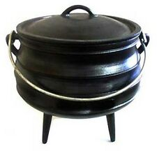 Cast Iron Cauldron Potjie Pot 8 QT Sz 3 Survival Druids Gypsy Witch Rituals