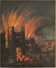 The Great Fire of London, 1670, Repro Art Print 6x5 inches