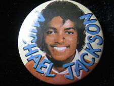 Michael Jackson-Yellow-Pin-Badge-Button-80's Vintage-Rare