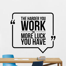 Quote Wall Decal Work Business Motivation Office Vinyl Sticker Art Decor 15quo