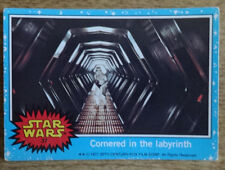 Topps Star Wars trading card 1977 blue series 37, Cornered in the labyrinth
