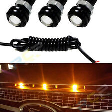 3x Universal LED Amber Grille Lighting For Ford SVT Raptor Truck SUV Style