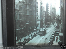 Glass magic lantern slide Canadian Pacific railways tram city scene c 1920s