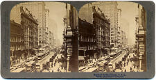 Stereoview Underwood Randolph Street, Chicago, More USA 3D Stereo Cards Listed