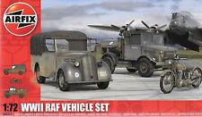 Airfix WWII RAF Vehicle Set, Bedford Truck, Motorcycle, 'Tilly' in 1/72 3311 ST