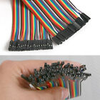 40Pcs/20cm Dupont Wire Rainbow Color Jumper Cable 2.54mm 1P-1P Female to Female