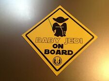 "Star wars bébé jedi on board ""en vinyle imperméable voiture autocollant decal"