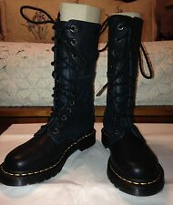 NEW w/o box Women's Doc Martens Black Leather AirWaves Lace Up Boots, 7M; EU 38