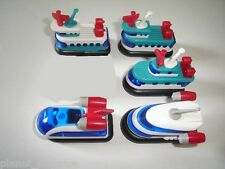 HOVERCRAFTS 1994 MODEL BOATS & SHIPS SET - KINDER SURPRISE TOYS MINIATURES
