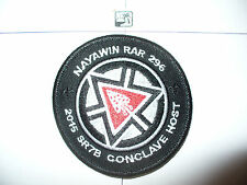 Nayawin Rar Lodge 296,1915- 2015 SR-7b HOST, 100th Ann OA Centennial,Patch,pp,NC