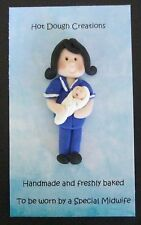Midwife / Nurse brooch, badge by Hot Dough Creations