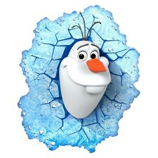 Disney Frozen ~ OLAF  3D Deco Wall LED Night Light FX Room Decor