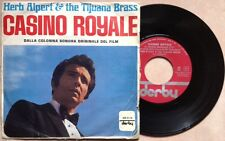"HERB ALPERT / CASINO ROYALE (or. soundtrack) - 7"" (Italy 1967) VG++/EX-"
