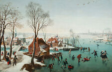 January, Skating on the Frozen River Jan Wildens Schlittschuhlaufen B A3 02476